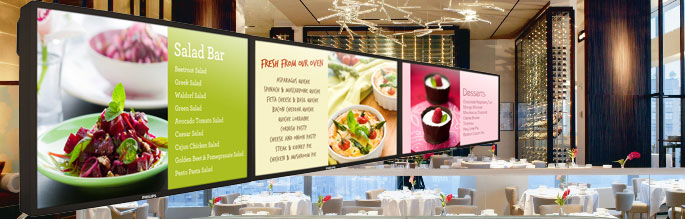 Menu Boards Digital Signage For Cafe Amp Restaurant Menu