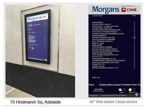 Directory Boards Cases Digital Signage Sydney City